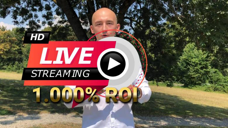 10x Gewinn, 1.000% ROI Programm LIVE