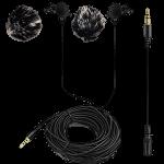 2 Mikrofone für Apple & Android 6m Länge