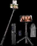 Kleines 2-in-1 Stativ und Selfie Stick inkl. Fernbedienung und Tasche