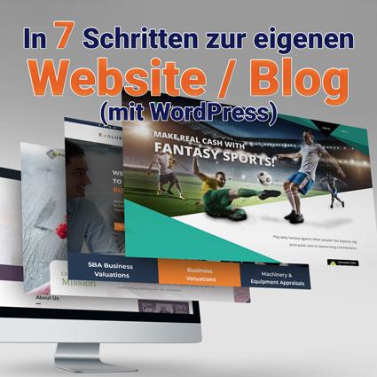 In 7 Schritten zur eigenen Website / Blog (mit WordPress)